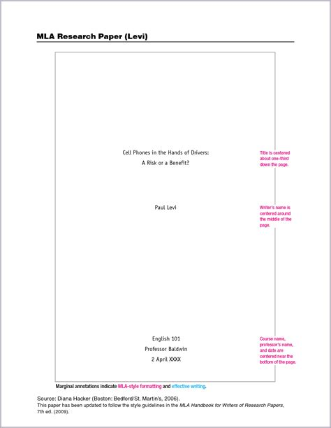 Exles Of Cover Pages For Essays by Essay Title Page Format Mla Bamboodownunder