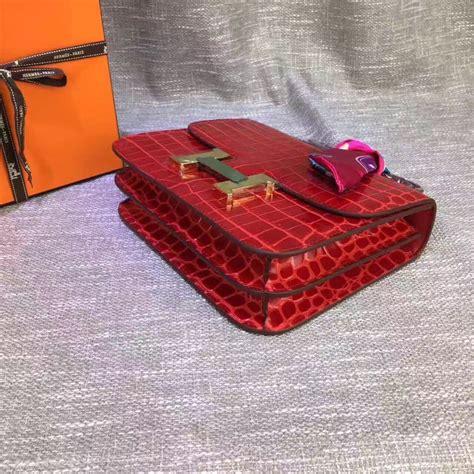 Hermes Constance Croco hermes constance 23cm croco leather hermes 1535 239 00 designer replica handbags