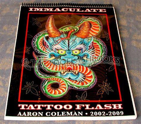 immaculate tattoo tattooflashbooks aaron coleman immaculate