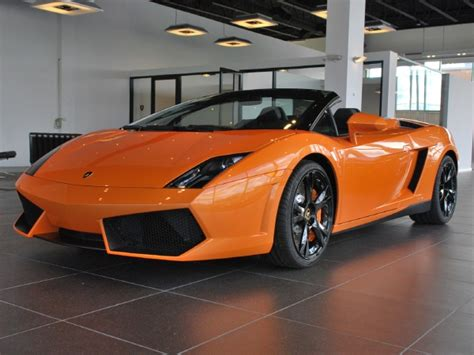 Orange Lamborghini Convertible Orange Lamborghini Gallardo Spyder