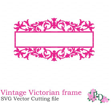 victorian vintage frame silhouettes svg vector eps png cutting