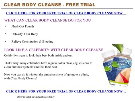 Clear Change Detox Powerpoint clear cleanse free trial