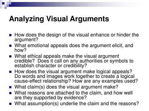 ppt analyzing visual arguments powerpoint presentation