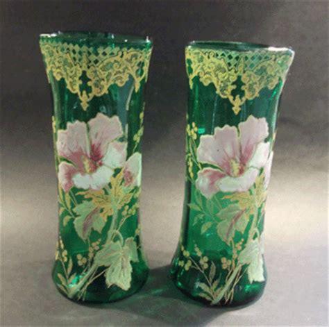 Art Nouveau Vases Art Nouveau Legras Cie Glass Enameled Vase