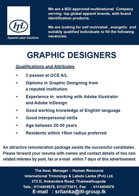 graphic design vacancy indonesia job advertisement graphic designer www pixshark com