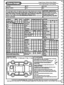 car service check sheet template east coast connectons