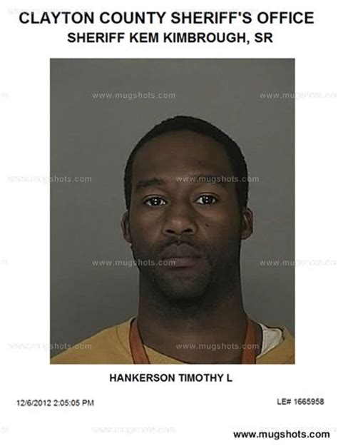 Clayton County Ga Court Records Timothy Hankerson Mugshot Timothy Hankerson