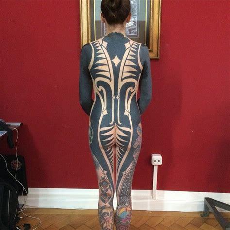 full body tattoo black bernard wiesbeck tattoos bodyart modern pinterest