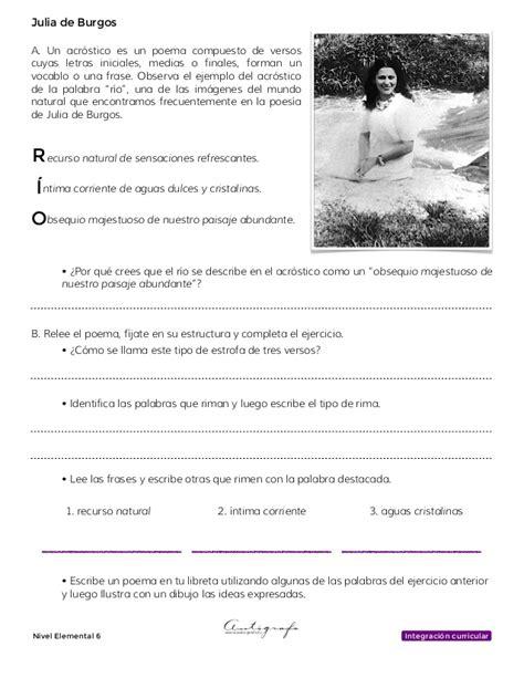 acrostico con puerto rico cuaderno estudiante julia de burgos