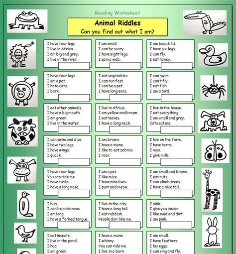 printable animal riddles animal riddles