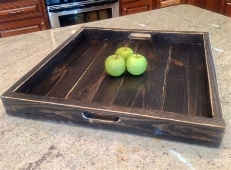 large serving tray for ottoman extra large ottoman tray reclaimed wood square ebay