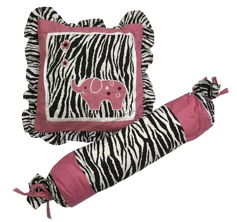 Baby Boutique Pink Zebra 15 Pcs Nursery Crib Bedding Set Pink Zebra Crib Bedding
