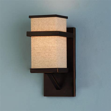 Square Sconce Square Linen Shade Sconce Basement