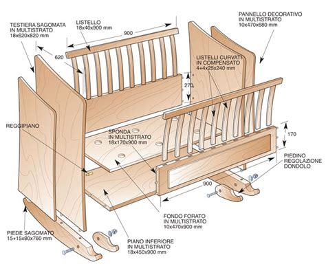 costruire una culla in legno culla fai da te di multistrato bricoportale fai da te e