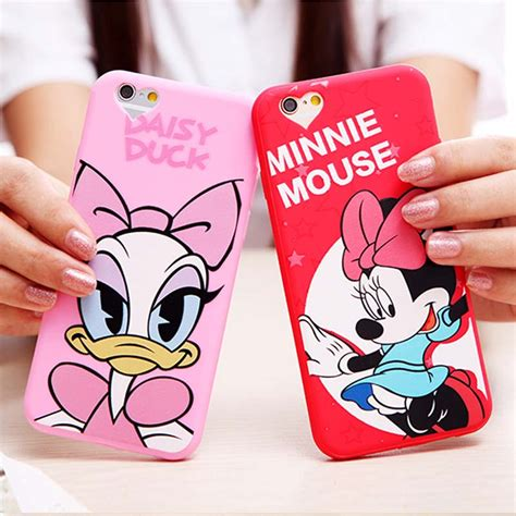 Casecassingcasing Soft Silicone Minnie Mouse For Iphone 6 Plus cover for apple iphone 6 6s 4 7 silicone soft mickey