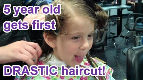 five year old gets haircut for first time rean carter 5 year old s first drastic haircut youtube