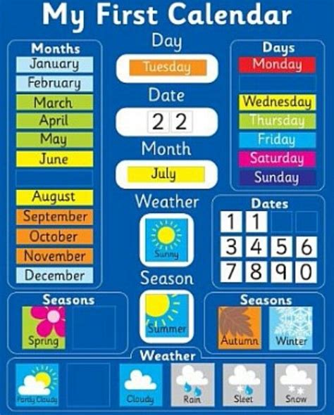 date of day day date month weather and season future classroom