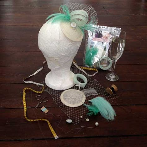 make your own hats classic reprint books mint ivory fascinator kit
