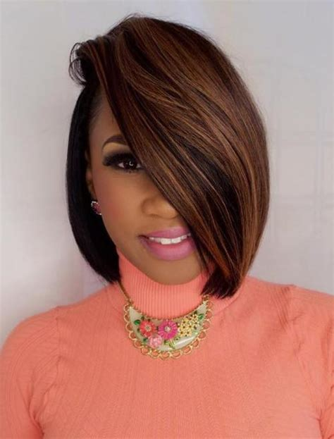 one sided bob on afician americian 60 showiest bob haircuts for black women