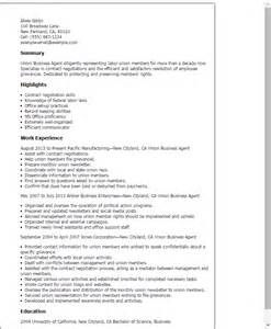 Resume Exles Union Workers Professional Union Business Templates To Showcase Your Talent Myperfectresume