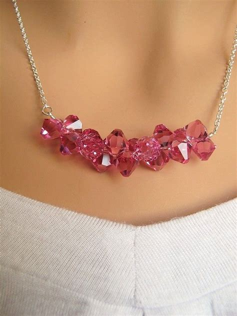 chain mail plus jewelry projects using crystals charms more books branch swarovski pink fuschia crystals