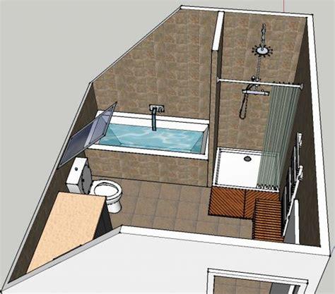 Merveilleux Colonne Salle De Bain Lapeyre #4: implantation-salle-de-bain-salle-le-design-b-implantation-de-bain-sous-combles-08100231-3d-3m2-4m2-5m2-9m2-leroy-merlin-pente-bains-lapeyre.jpg