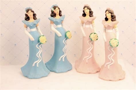 Bridesmaid Cake by Reserved For Fran Vintage Bridesmaid Cake Topper Figurines