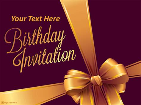 Free Template Powerpoint Templates Myfreeppt Com Powerpoint Birthday Template