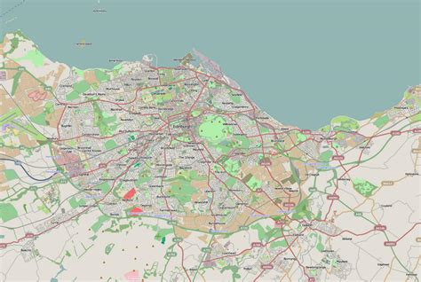 printable street map edinburgh edinburgh road map road map of edinburgh scotland uk