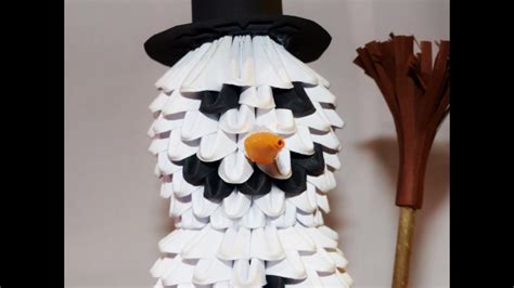 How To Make 3d Snowman Out Of Paper - 3d origami snowman 3d origami schneemann