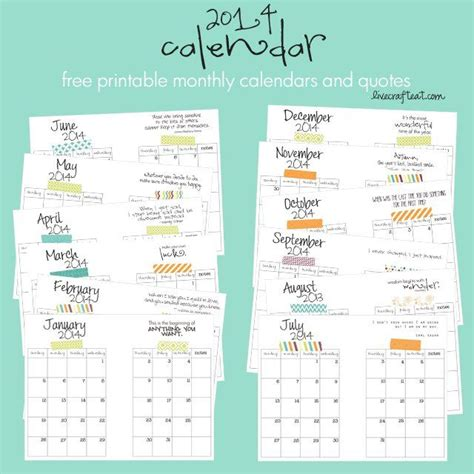 Inexpensive Monthly Calendars 17 Best Images About Planner Inserts On