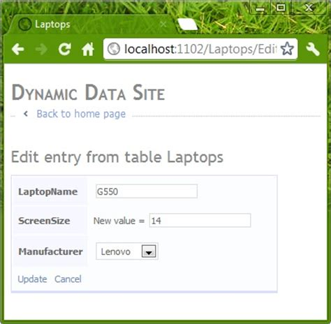 dynamic data templates an introduction to asp net dynamic data from a beginner s