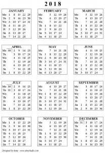Calendar 2018 List Calendar August 2018 Printable List Calendar Template