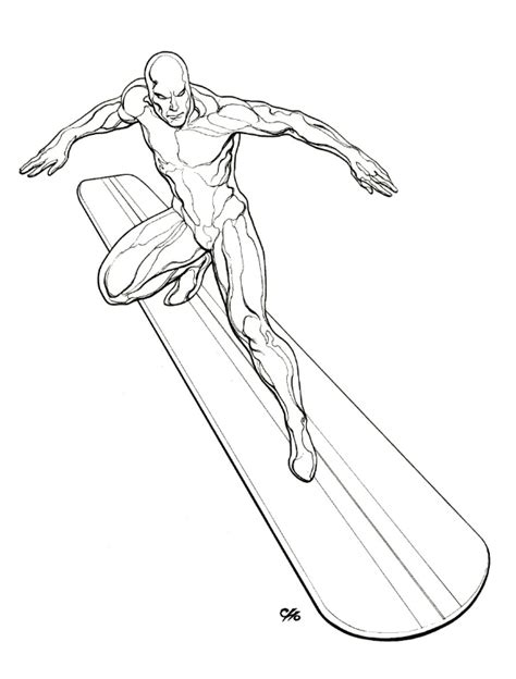silver surfer free coloring pages