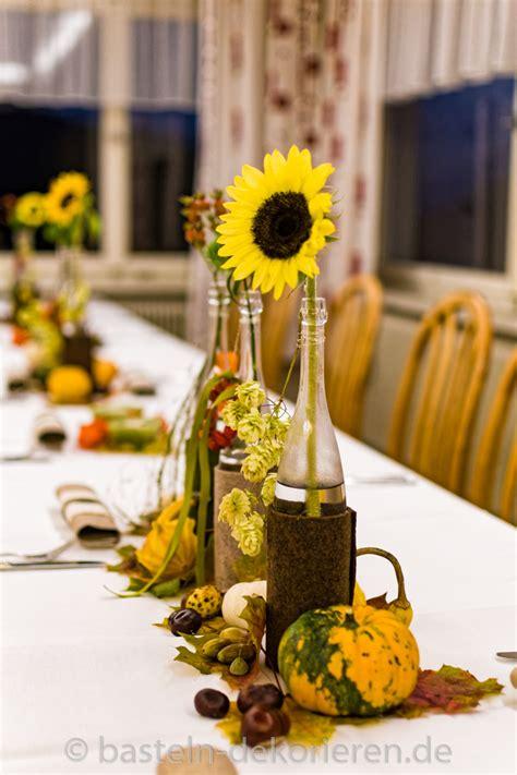 Sonnenblumen Tischdeko by Herbstliche Tischdekoration F 252 R Den Geburtstag Basteln