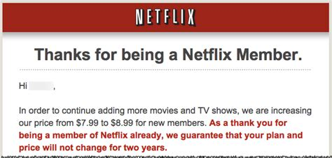 Letter Netflix Netflix Raising Prices For New Subscribers Tidbits