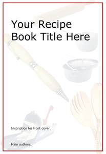 cook book template pictures front cover design template