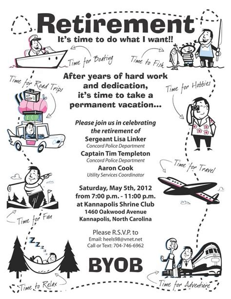 retirement party flyer on behance just for fun