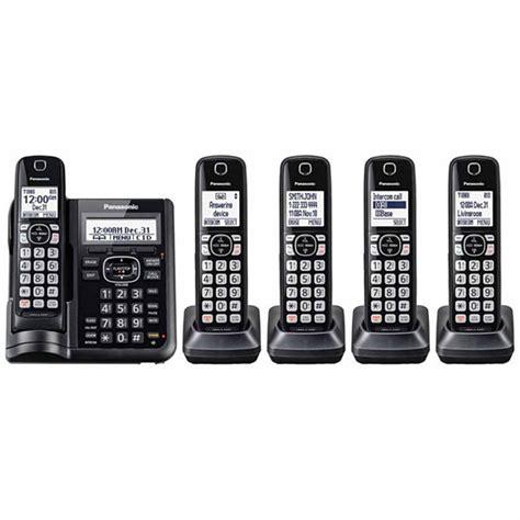 Panasonic Kx Tgf344 Dect 60 2 Answering Machine Panasonic Kx Tgf545b Dect 6 0 Cordless Telephone With
