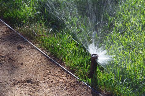 lawn sprinkler watering system  image  libreshot