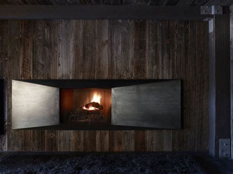 Chalet Fireplace by Rustic Ski Chalet Renovated With Minimal Environmental Impact