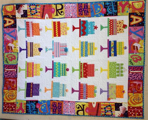Birthday Quilt Pattern by Happy Birthday Cake Quilt Pattern By Kuukuudesigns On Etsy