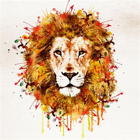 lions colors abstract watercolor search