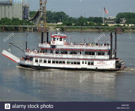 riverboat cruise up mississippi river tom sawyer riverboat on mississippi river stock photo