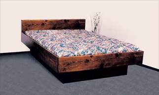 Water Bed Frame 5 Board Solid Wood Hardside Waterbed Free Shipping