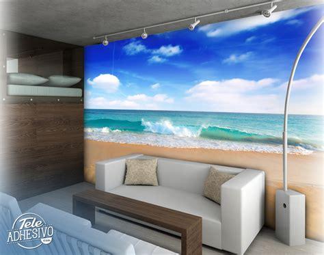 tapetengestaltung schlafzimmer playa nubes teleadhesivo