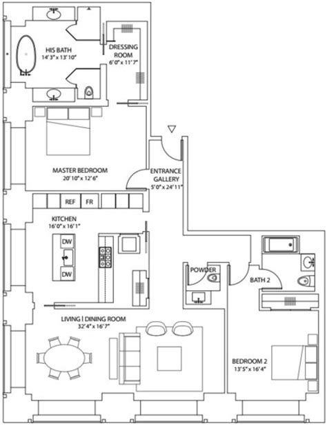 floor plan from 432 park avenue apartment therapy view apartment