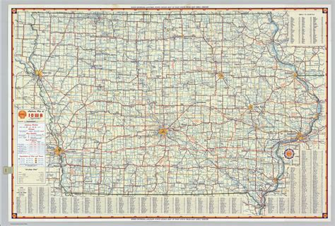 detailed map of iowa iowa road map bwzesa 001