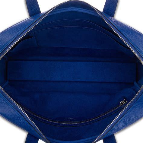 top berkeley berkeley top zip grain leather briefcase blue rapport touch of modern