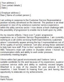 cover letter customer service representative customer service representative covering letter sle